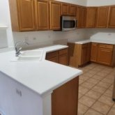 Reglazed kitchen counter and tile