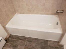 Barrington tub painted white