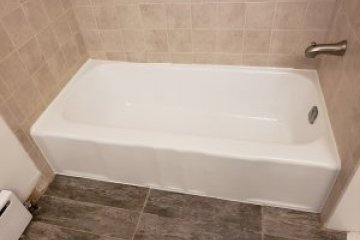 Barrington tub painted white